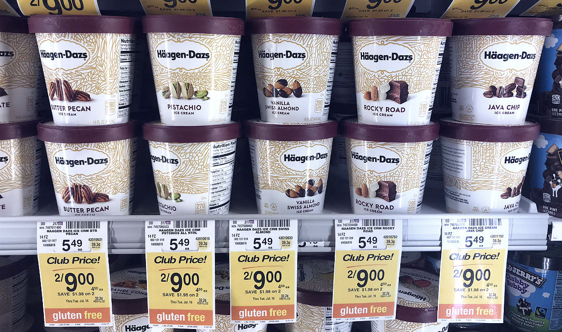 photo about Haagen Dazs Coupon Printable identify Haagen-Dazs Nestle Ice Product, $1.99 at Safeway! - The