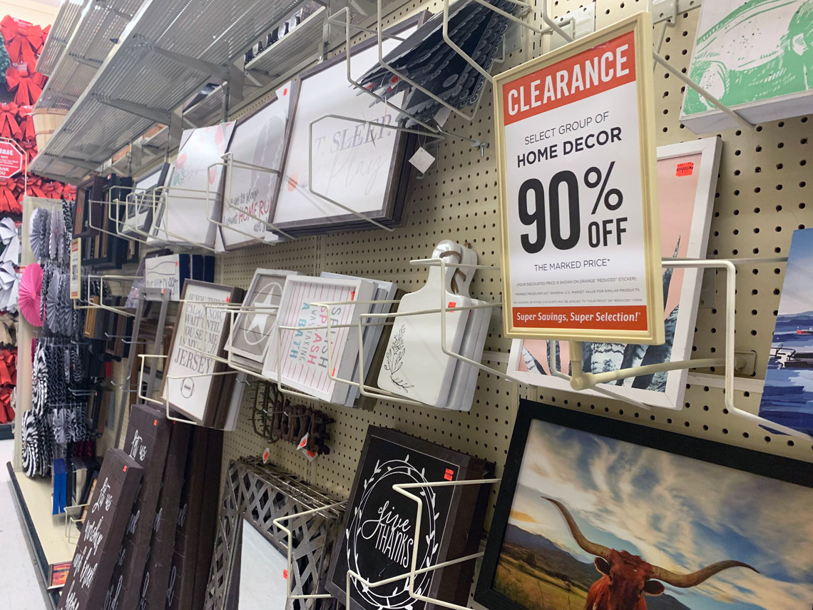 90 Off Home Decor Clearance At Hobby Lobby The Krazy
