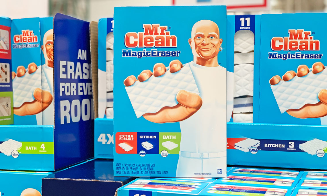 picture about Mr Clean Coupons Printable named Mr. Contemporary Magic Erasers 11-Pack, Simply just $6.99 at Costco! - The