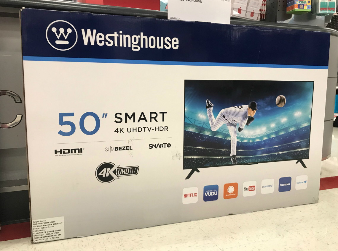 Westinghouse 50″ 4K Smart TV, Only $179 99 at Target! - The
