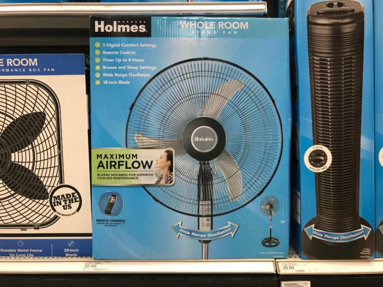 Holmes Tower, Stand & Window Fans, as Low as $10 at Target