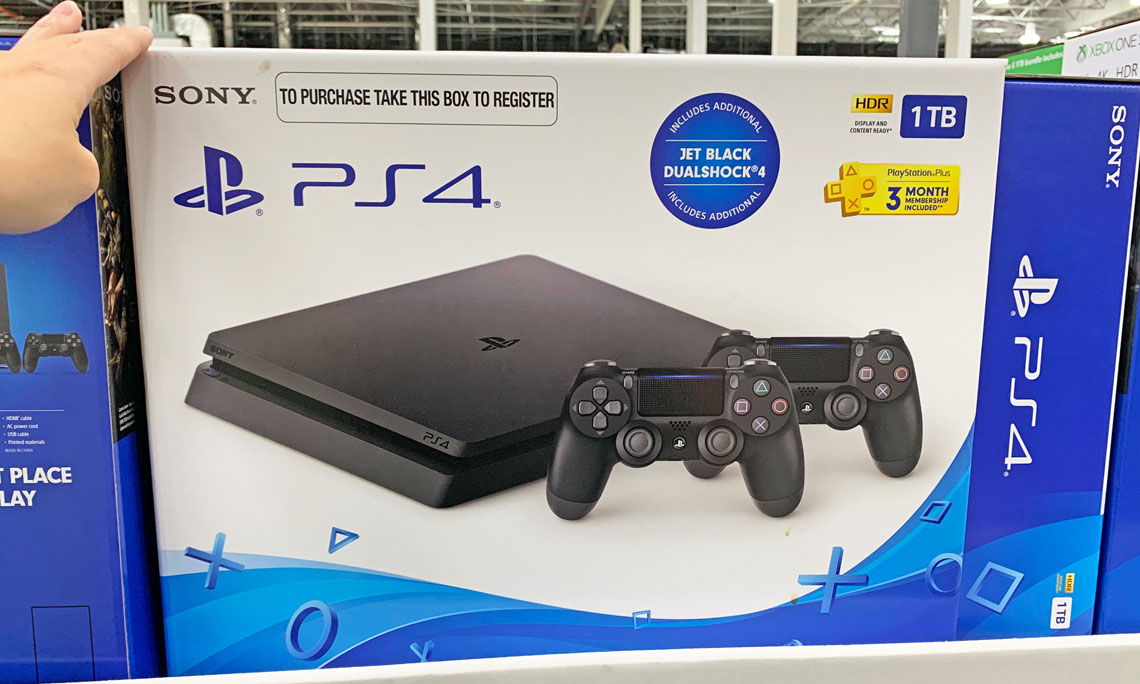 $299 99 Sony PS4 with Controllers & PSN Membership at Costco