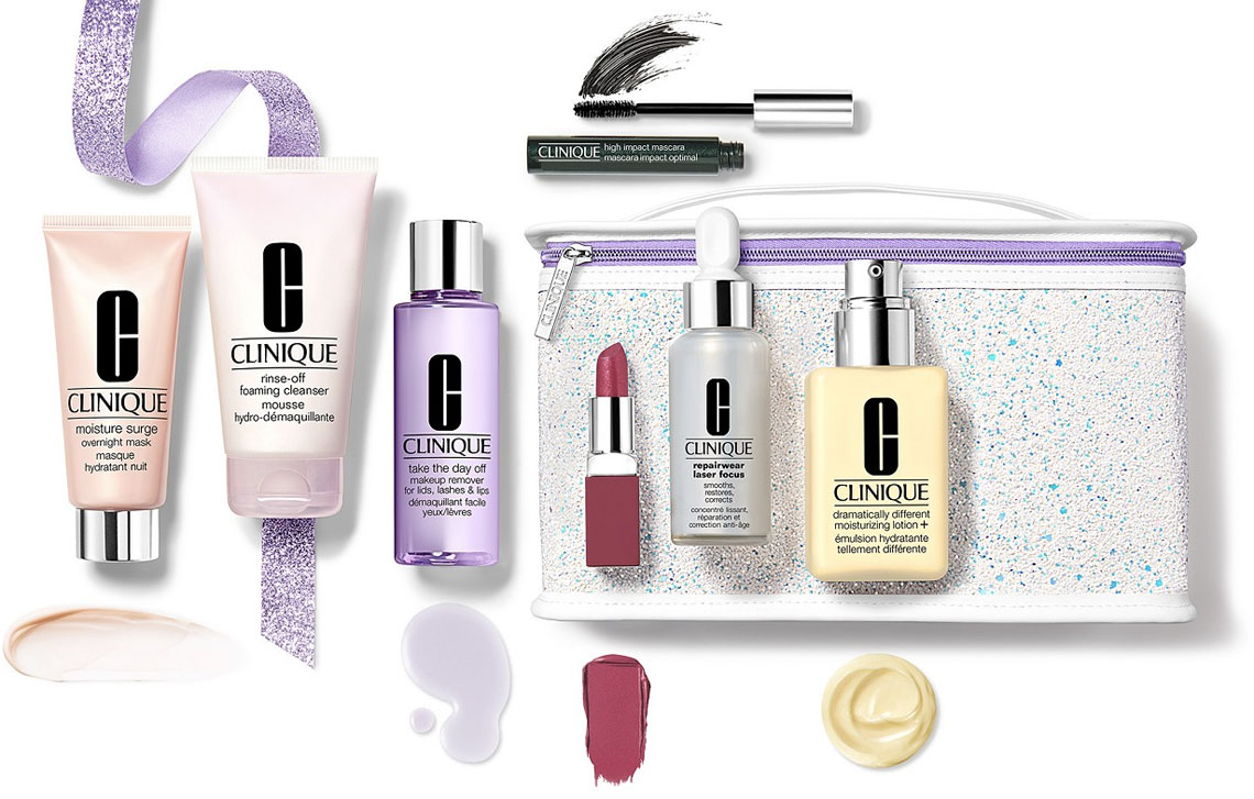 $376 Worth of Clinique + 3 Free Gifts for $79 Shipped at Macy's!
