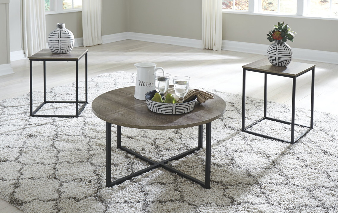 Astonishing Signature Design By Ashley 3 Piece Table Set 47 At Walmart Beatyapartments Chair Design Images Beatyapartmentscom