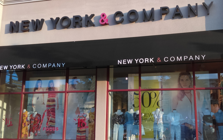 New York and Company store front.