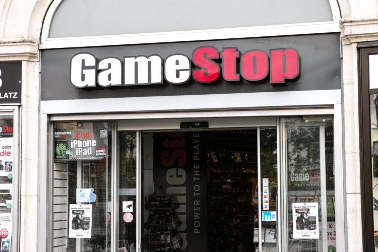 The outside of a Gamestop store