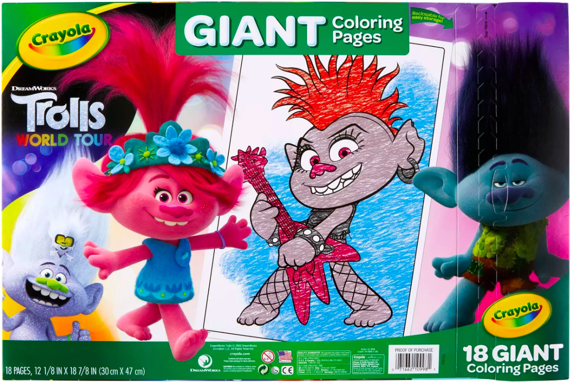 Trolls Crayola Coloring Sets, As Low As $3.56 At Target - The