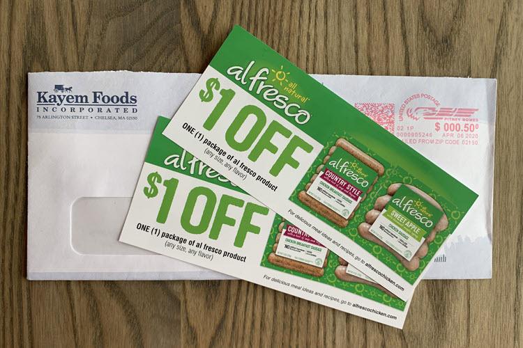 Two al fresco coupons.