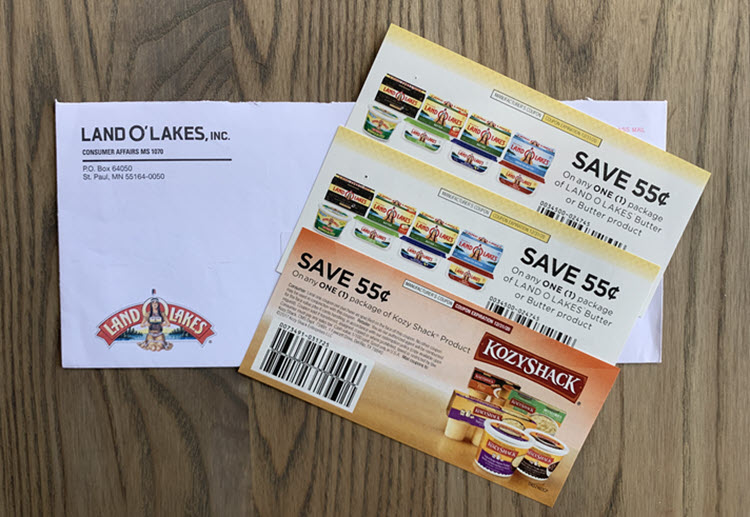 Three coupons for Land-O-Lakes products.