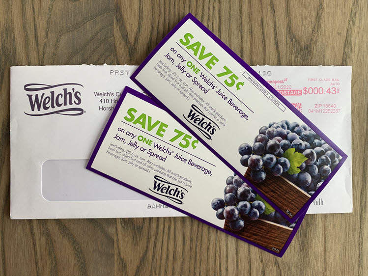 Two coupons for Welch's products.