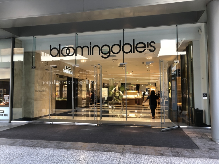 Bloomingdale's retail store location, store front.